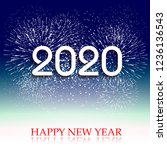 happy new year 2020 background... | Shutterstock .eps vector #1236136543