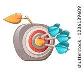 darts hit the apple icon....   Shutterstock . vector #1236139609