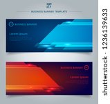 set of abstract template... | Shutterstock .eps vector #1236139633