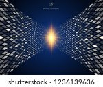 abstract technology data... | Shutterstock .eps vector #1236139636