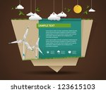 eco friendly and green energy... | Shutterstock .eps vector #123615103