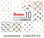 seamless patterns with xmas...