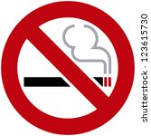 smoking sign | Shutterstock .eps vector #123615730