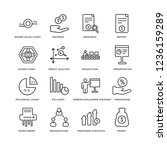set of 16 business and... | Shutterstock .eps vector #1236159289