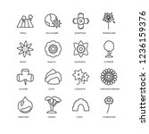 set of 16 nature linear icons... | Shutterstock .eps vector #1236159376