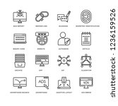 set of 16 programming linear... | Shutterstock .eps vector #1236159526