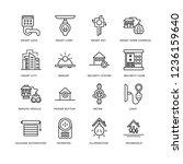 set of 16 smarthome linear... | Shutterstock .eps vector #1236159640