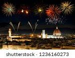 fireworks over florence... | Shutterstock . vector #1236160273