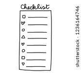 checklist paper with various...   Shutterstock .eps vector #1236164746