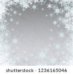 2d illustration. snowflakes... | Shutterstock . vector #1236165046