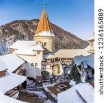 tourism in bran castle inner... | Shutterstock . vector #1236165889