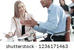 young business colleagues... | Shutterstock . vector #1236171463