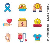 sacrifice icons set. cartoon... | Shutterstock . vector #1236174850