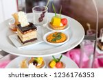 collection of delicious dessert ... | Shutterstock . vector #1236176353