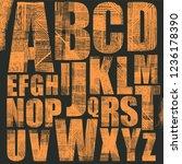 grunge scratch type font  hand...   Shutterstock .eps vector #1236178390