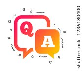 question answer sign icon. q a... | Shutterstock .eps vector #1236180400
