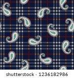 Paisley Pattern On Navy Stripe...