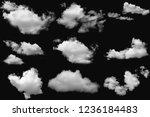 set of cloud white fluffy on... | Shutterstock . vector #1236184483