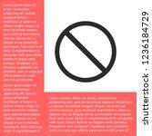 forbidden vector icon 10 eps | Shutterstock .eps vector #1236184729