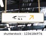Signboard Mockup At An Airport