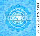 blow out light blue emblem with ... | Shutterstock .eps vector #1236193189