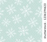 this is a winter seamless... | Shutterstock .eps vector #1236194623