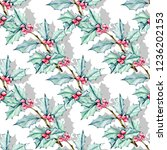 seamless christmas pattern with ...   Shutterstock . vector #1236202153