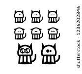 cat emoji sticker icon set