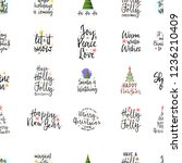 slogans for the new year... | Shutterstock .eps vector #1236210409
