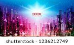 vector background of the night... | Shutterstock .eps vector #1236212749