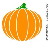 pumpkin or gourd with stem flat ... | Shutterstock .eps vector #1236216709
