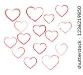 heart love element icons set ... | Shutterstock .eps vector #1236219850