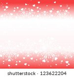 abstract winter valentine... | Shutterstock .eps vector #123622204