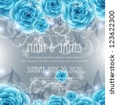 wedding card or invitation with ... | Shutterstock .eps vector #123622300