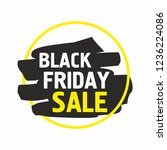 black friday sale banner.... | Shutterstock .eps vector #1236224086