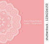 invitation or card template... | Shutterstock .eps vector #1236226153