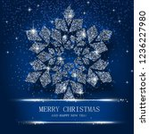 blue merry christmas and happy... | Shutterstock .eps vector #1236227980