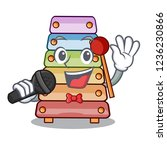 singing colorful toy xylophone... | Shutterstock .eps vector #1236230866