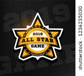 all star game. sport emblem ...   Shutterstock .eps vector #1236235030