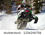 soaring with snowmobile   Shutterstock . vector #1236246706
