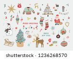 christmas objects collection ...   Shutterstock . vector #1236268570