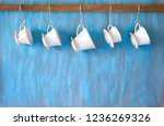vintage porcelain coffee... | Shutterstock . vector #1236269326