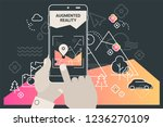 augmented reality city tourism... | Shutterstock .eps vector #1236270109