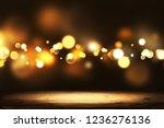 christmas golden bokeh with... | Shutterstock . vector #1236276136