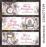 merry christmas templates of... | Shutterstock .eps vector #1236277159