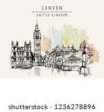 big ben  houses of parliament ... | Shutterstock .eps vector #1236278896