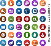 color back flat icon set  ... | Shutterstock .eps vector #1236288646