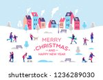 merry christmas and a happy new ... | Shutterstock .eps vector #1236289030