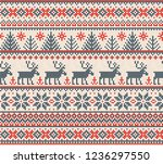ugly sweater merry christmas... | Shutterstock . vector #1236297550