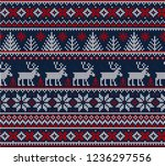 ugly sweater merry christmas... | Shutterstock . vector #1236297556